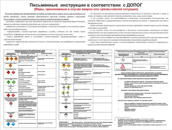 Новые письменные инструкции при перевозке ог в 2018 году